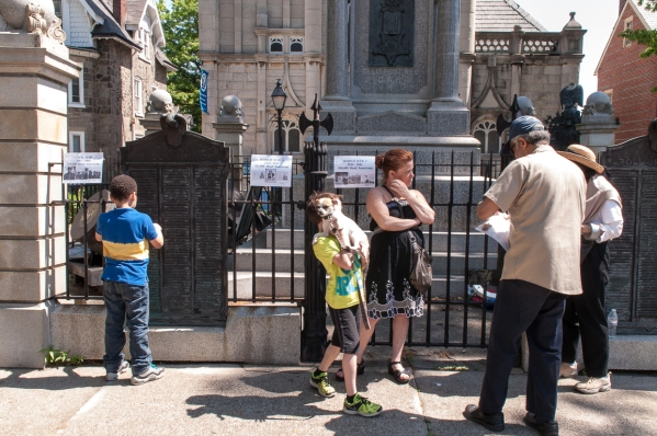 Photographed May 25, 2015 at Historic Germantown's Market Square in Philadelphia, PA , by Tieshka Smith.
